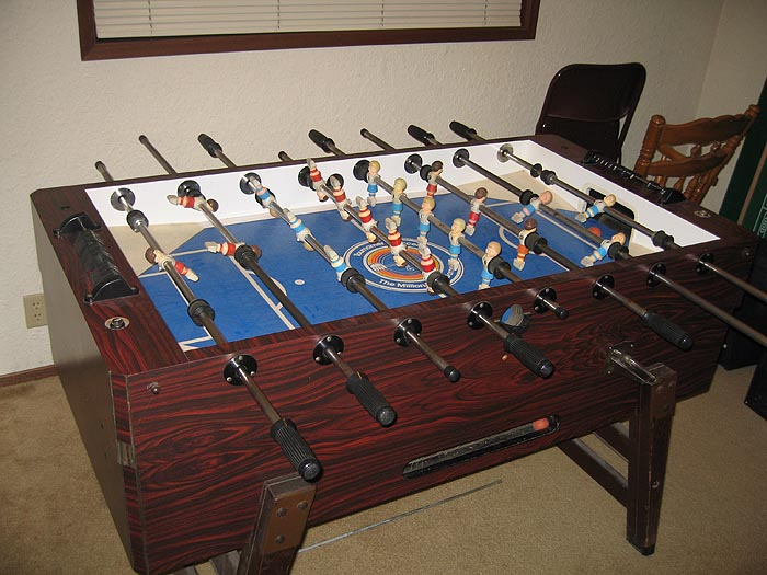 Looking For Parts For CoinOp Tournament Soccer Table Blue Top - Tournament soccer foosball table